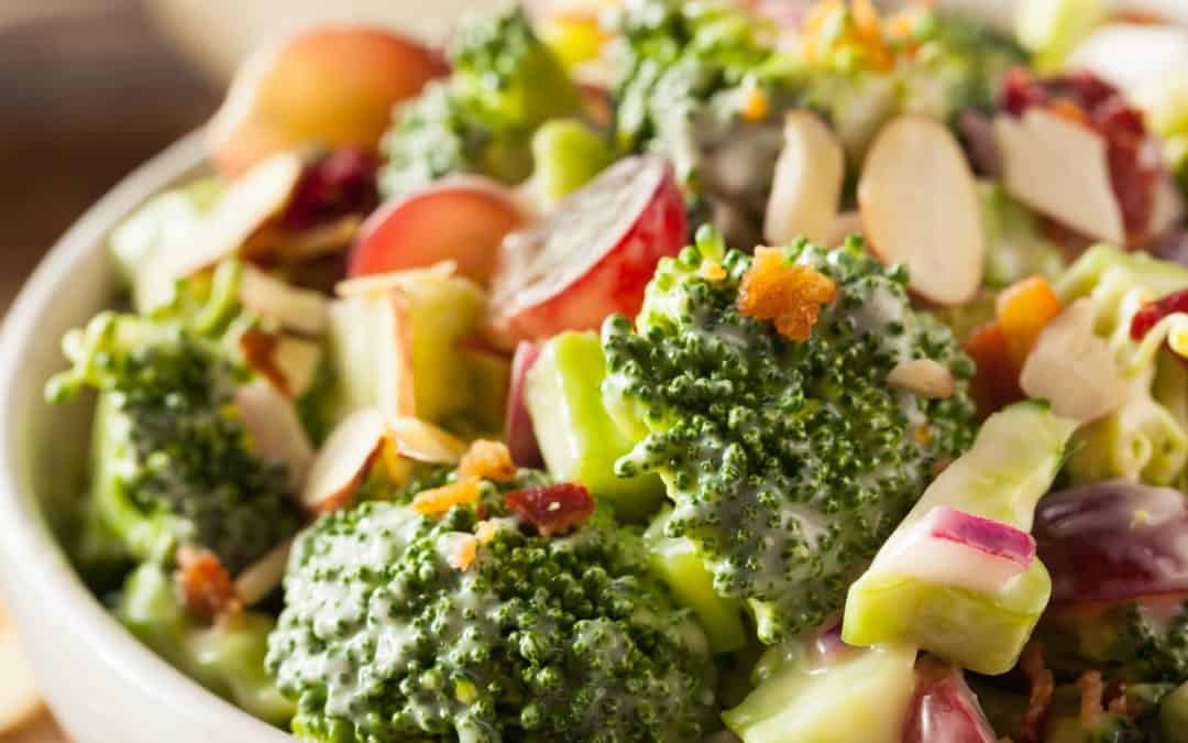 High Protein Vegetarian Broccoli Salad