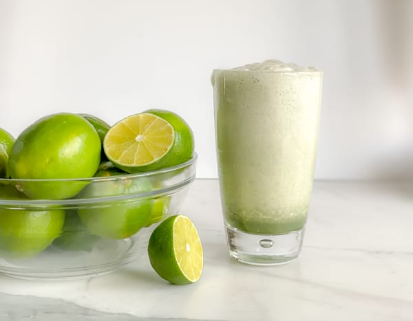 egg white protein with lime smoothie