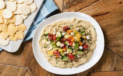 Mediterranean Hummus Quinoa Dip