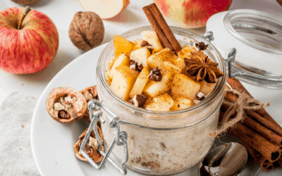 High-Protein Apple Cinnamon Oatmeal