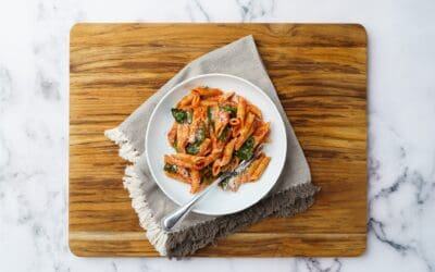 20-Minute Gluten Free Protein Pasta with Spinach