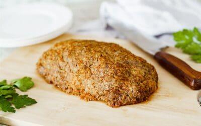Gluten-Free Flexitarian Lamb & Cauliflower Meatloaf